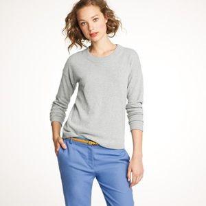 J. Crew gray cashmere wool crewneck sweater